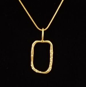 LIA SOPHIA - brushed gold necklace/pendant w/cryst